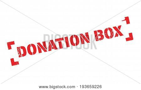 Donation Box rubber stamp. Grunge design with dust scratches. Effects can be easily removed for a clean, crisp look. Color is easily changed.