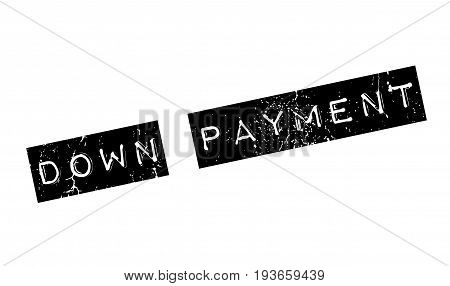 Down Payment rubber stamp. Grunge design with dust scratches. Effects can be easily removed for a clean, crisp look. Color is easily changed.