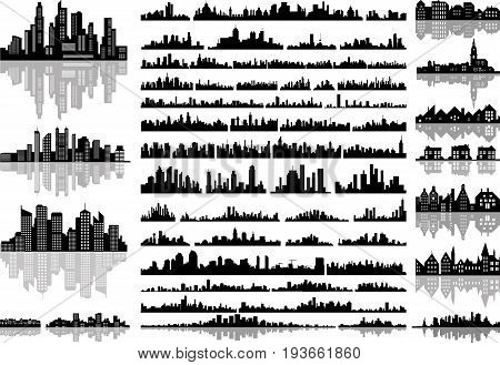 vector set of the abstract city skylines