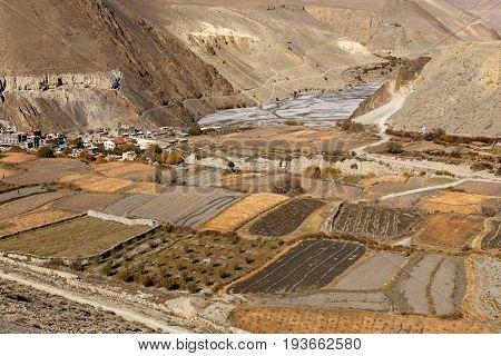 Cagbeni surroundings of the village, Lower Mustang, Nepal