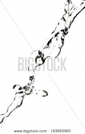 a jet of water on a white background .