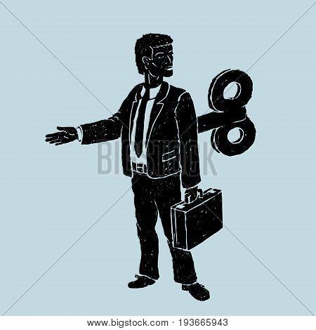 The Clockwork Officer Robot Vector Illustration eps 8 file format