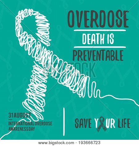 International Overdose Awareness Day. Abstract design background illustration