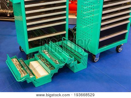 Toolboxes for auto service, car repair or garage