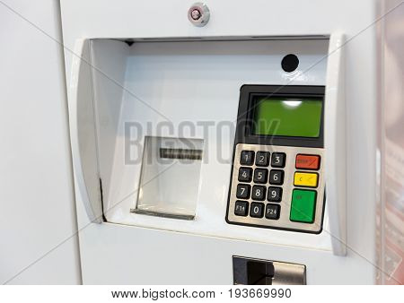 Terminal for gasoline payment