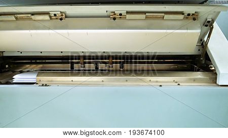Printing and folding machine for big size drawing and draft printing. Design office supply equipment.