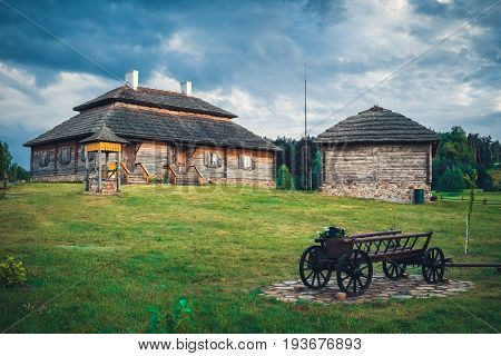 Retro Ethnic Houses On Rural Landscape - Village Of Birthplace Of Tadeusz Kosciuszko - Kossovo, Bres