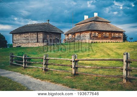 Wooden Ethnic Houses On Rural Landscape - Village Of Birthplace Of Tadeusz Kosciuszko - Kossovo, Bre
