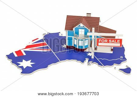 Property for sale and rent in Australia concept 3D rendering