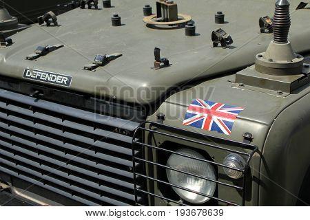 Sandhurst, Surrey, Uk - June 18Th 2017: Close Up Showing Detail Of Bonnet, Lights And Radiator On Th