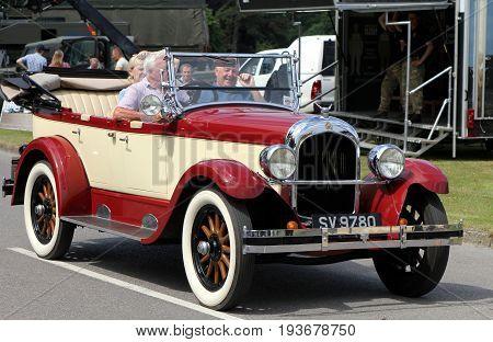 Sandhurst, Uk - June 18 2017: Classic 1920S Chrysler Roadster