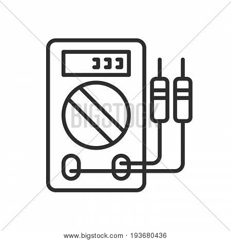 Digital multimeter line icon outline vector sign linear style pictogram isolated on white. Symbol logo illustration. Editable stroke. Pixel perfect graphics