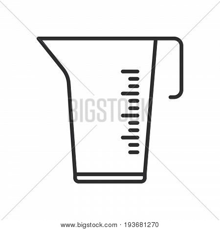 Measuring cup line icon outline vector sign linear style pictogram isolated on white. Symbol logo illustration. Editable stroke. Pixel perfect graphics
