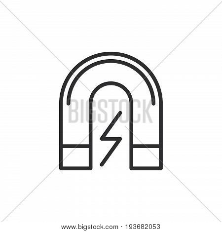 Magnet line icon outline vector sign linear style pictogram isolated on white. Symbol logo illustration. Editable stroke. Pixel perfect graphics