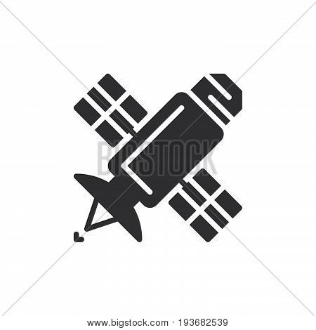 Satellite icon vector filled flat sign solid pictogram isolated on white. Symbol logo illustration. Pixel perfect graphics