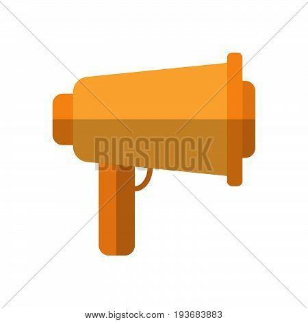 speaking trumpet flat icon filled vector sign colorful pictogram isolated on white. megaphone symbol logo illustration. Flat style design