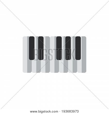 Piano keys flat icon filled vector sign colorful pictogram isolated on white. Synthesizer symbol logo illustration. Flat style design