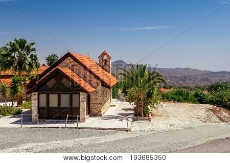 Church In Kato Lefkara - Is The Most Famous Village In The Troodos Mountains. Limassol District, Cyp
