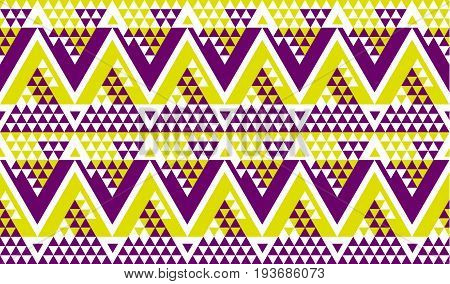 modern zig-zag seamless vector pattern for surface design. fashion fabric sample. repeatable motif for wrapping paper, summer decor, party invitation