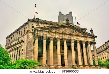 The New York State Supreme Court Building in Manhattan