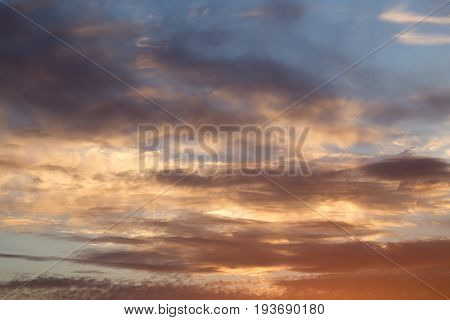 A beautiful clouds at sunset . A photo
