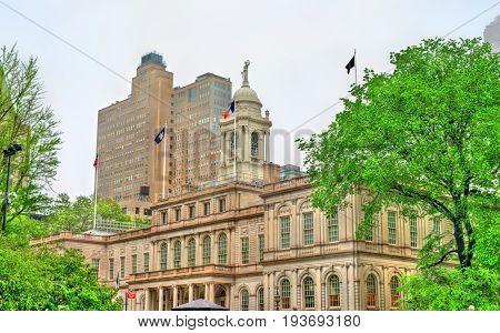 New York City Hall in Manhattan, United Stated