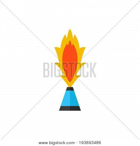 Vector icon of burning pyrotechnic fountain. Party, festival, fun. Firework concept. Can be used for topics like entertainment, pyrotechnics, holiday