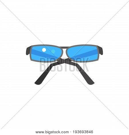 Icon of stylish glasses. Accessory, reading, spectacles. Oculist concept. Can be used for topics like optics, vision or eyesight