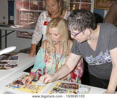LOS ANGELES - JUL 1:  Laurie Kagan, Katherine Kelly Lang, Jody McNelis at the