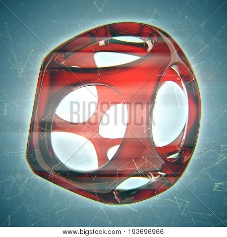 Crystal abstract. Jewelry concept 3D rendering