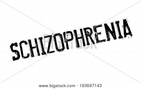 Schizophrenia rubber stamp. Grunge design with dust scratches. Effects can be easily removed for a clean, crisp look. Color is easily changed.