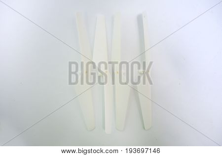 Propellers of a drone on a white background