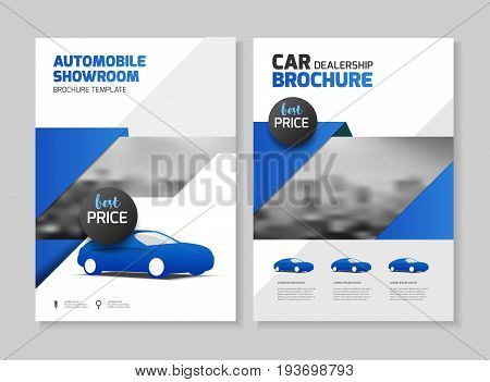 Car dealership brochure. Automobile showroom Leaflet Flyer template A4 size design.