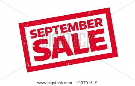 September Sale rubber stamp. Grunge design with dust scratches. Effects can be easily removed for a clean, crisp look. Color is easily changed.