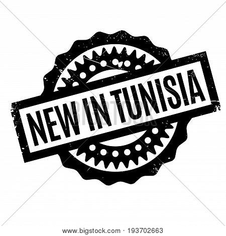 New In Tunisia rubber stamp. Grunge design with dust scratches. Effects can be easily removed for a clean, crisp look. Color is easily changed.