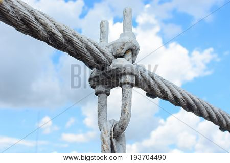Coils of wire or cable used for suspension bridge, cable