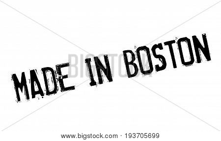 Made In Boston rubber stamp. Grunge design with dust scratches. Effects can be easily removed for a clean, crisp look. Color is easily changed.