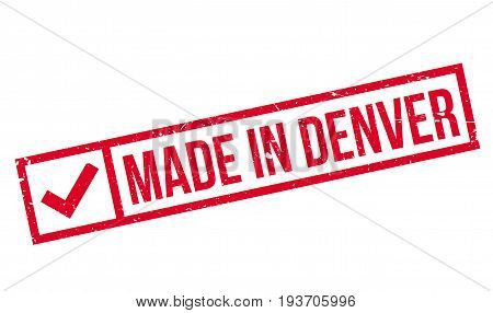 Made In Denver rubber stamp. Grunge design with dust scratches. Effects can be easily removed for a clean, crisp look. Color is easily changed.