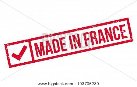 Made In France rubber stamp. Grunge design with dust scratches. Effects can be easily removed for a clean, crisp look. Color is easily changed.