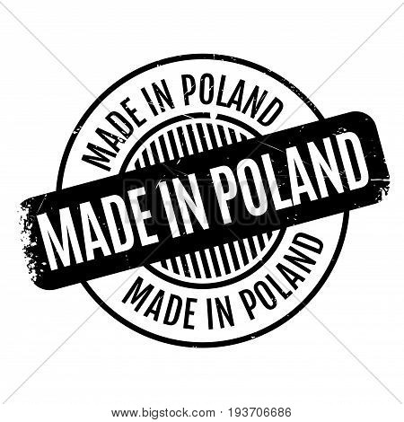Made In Poland rubber stamp. Grunge design with dust scratches. Effects can be easily removed for a clean, crisp look. Color is easily changed.