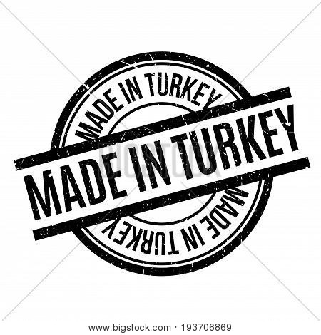 Made In Turkey rubber stamp. Grunge design with dust scratches. Effects can be easily removed for a clean, crisp look. Color is easily changed.