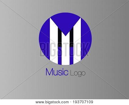 logo musical estilo piano para usar en su negocio estilo circular
