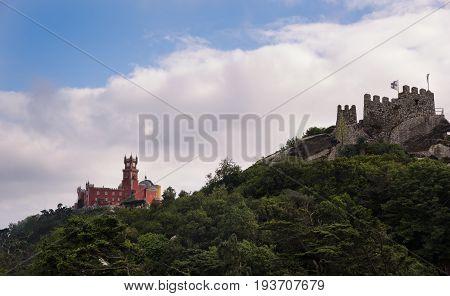 Sintra. Castelo Dos Mouros And Palácio Nacional Da Pena