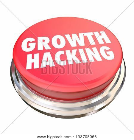 Growth Hacking Marketing Experiments Button 3d Illustration