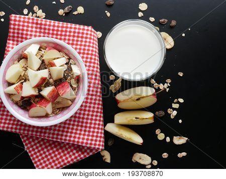 Healthy foodfresh milkfruit and multi dry fruit-serial