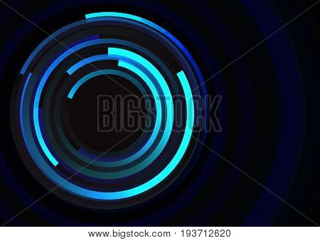 circle spiral line technology abstract background, digital round overlap  template, vector illustration