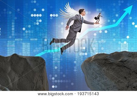 Venture capital concept with angel investor