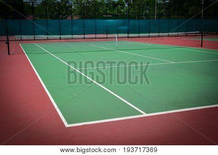 green tennis court sport background, individual sport