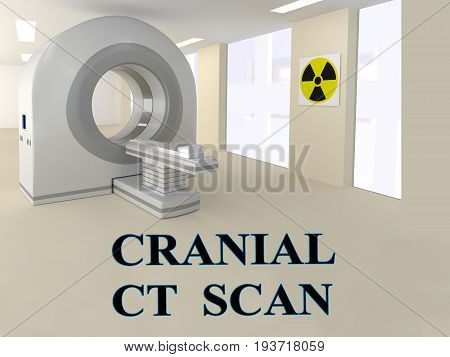 Cranial Ct Scan Concept
