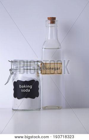baking soda and white vinegar